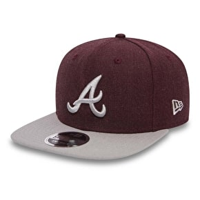 New Era MLB Seasonal Heather Cap - Atlanta Braves - Heather Graphite/Grey