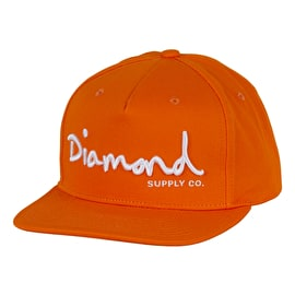 Diamond Supply Co OG Script Snapback Cap - Orange
