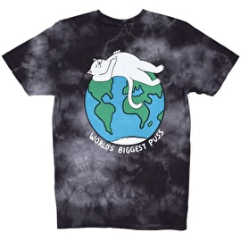 RIPNDIP Biggest Puss T Shirt - Black Acid Wash