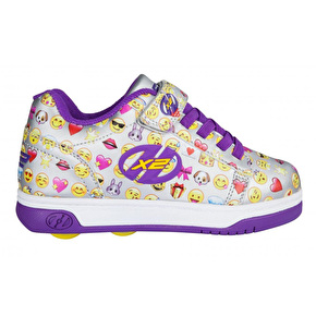 Heelys X2 Dual Up - Silver/Purple/Emoji