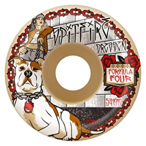 Spitfire Formula Four Dressen Dia De Perros 99a Skateboard Wheels - 54mm (Pack of 4)