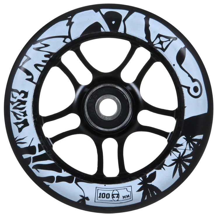Image of AO 100mm Enzo Scooter Wheel - Black