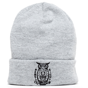 Rebel8 Night Watch Cuffed Beanie - Grey