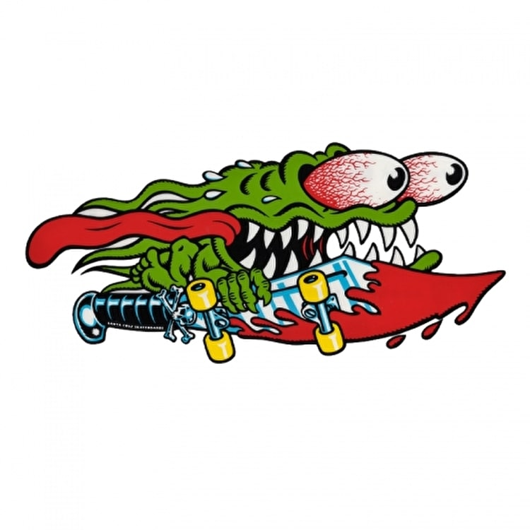 Santa Cruz Skateboard Sticker - Slasher Sword 6""