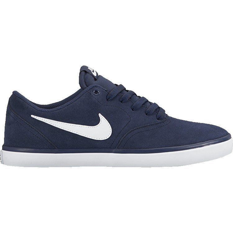 Nike SB Check Solar Skate Shoes - Midnight Navy/White