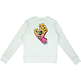 Santa Cruz Fade Hand Womens Crew Neck - Mint