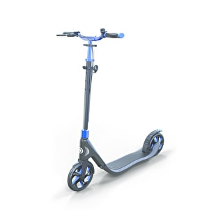 Globber One NL 205 Deluxe Complete Scooter - Titanium/Cobalt Blue