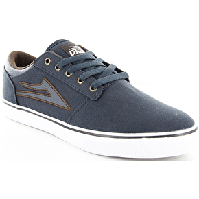 Lakai Brea Skate Shoes - Navy Canvas