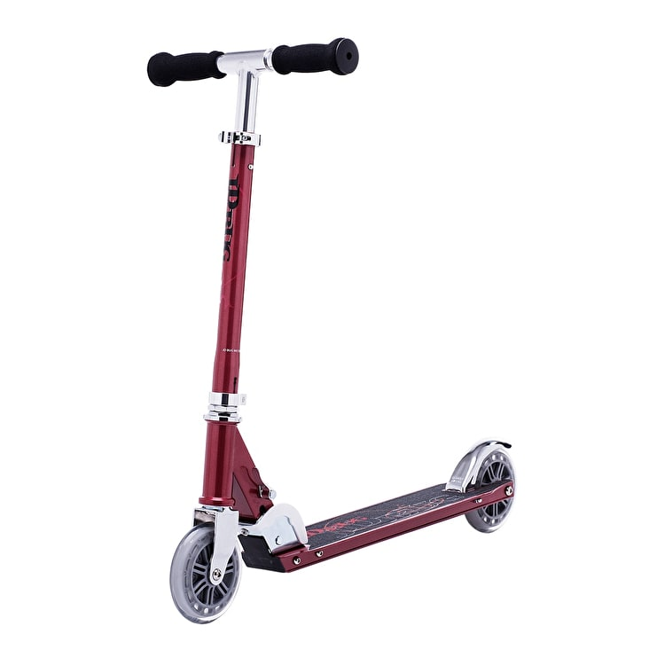 JD Bug Classic Street 120 Folding Commuter Scooter - Red Glow Pearl