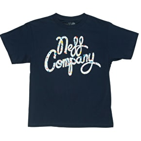 Neff Spatisco Kids T-Shirt - Navy