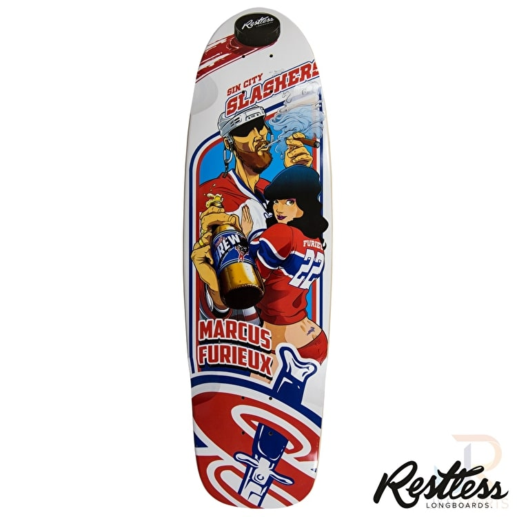 Restless Longboard Deck - RockSteady Slashers 30.5""