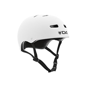 TSG Evolution Flat White Helmet