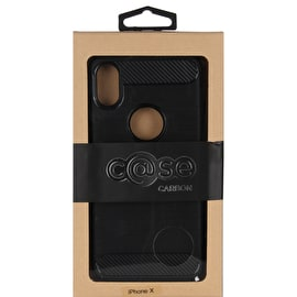 Case Brushed Carbon iPhone X - Black