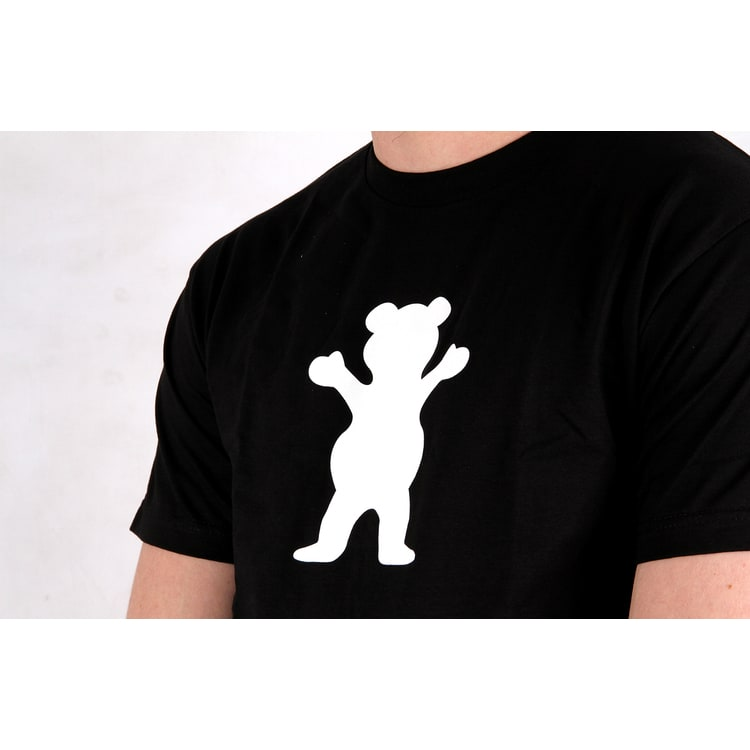 Grizzly OG Bear Logo T shirt - Black