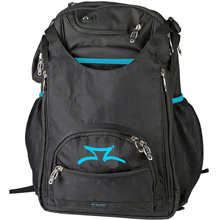 AO Scooters Transit Backpack - Black/Turquoise