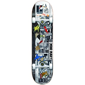 Almost Stuck-O-Rama Premium Complete Skateboard - Black 7.75