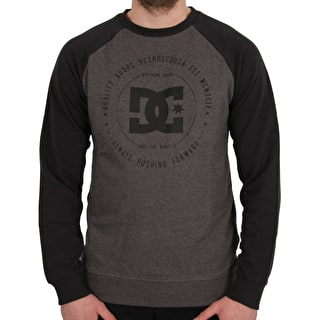 DC Rebuilt Crewneck - Black/Charcoal Heather