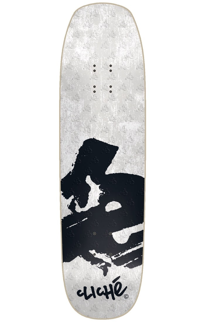 Image of Cliche Europe Directional R7 Skateboard Deck - White/Black 8.6""