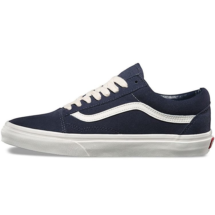 Vans Old Skool Skate Shoes - (Herringbone Lace) Navy/Marshmallow