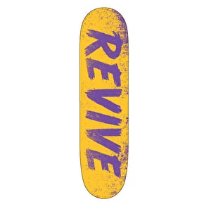 ReVive Sketch Skateboard Deck - Yellow/Purple