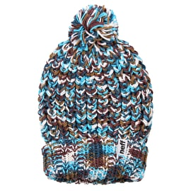 Neff Space Womens Beanie - Blue/Brown