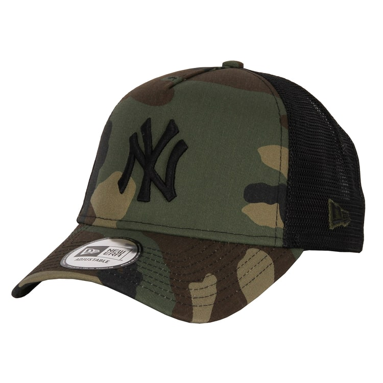 New Era NY Yankees Team Trucker Cap - Woodland Camo