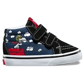 Vans x Peanuts SK8-Hi Mid Reissue V Toddler Shoes - Flying Ace/Dress Blues