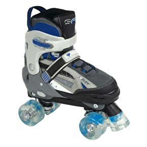 SFR Typhoon Adjustable Boys Quad Skates - Black/Blue
