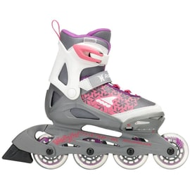 B-Stock Rollerblade 2018 Spitfire Cube Adjustable Inline Skates - White/Purple SML (Box Damage)