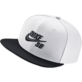 Nike SB Icon Snapback Cap - White/Black