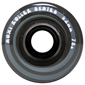 Moxi 62mm Juicy Quad Skate Wheels Smoke Black 78A