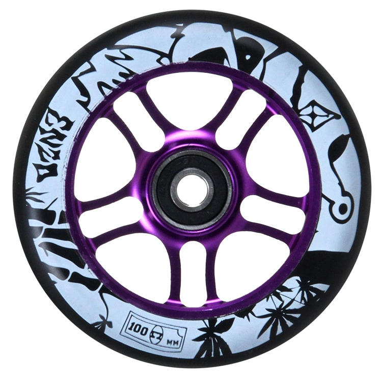 Image of AO 100mm Enzo Scooter Wheel - Purple