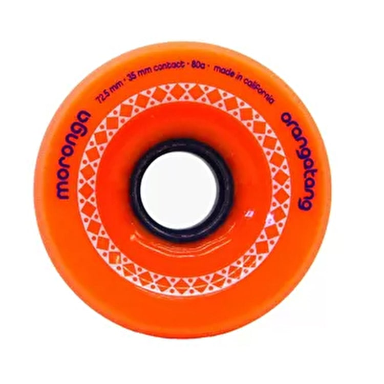 Orangatang Moronga 72.5mm Longboard Wheels - Orange (Pack of 4)