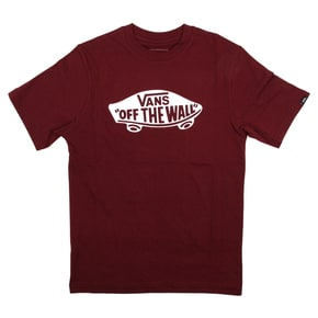 Vans OTW Kids T-Shirt - Burgundy/White