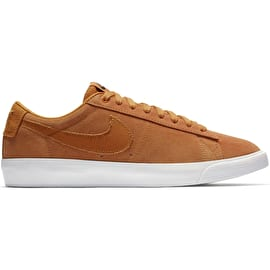 Nike SB Zoom Blazer Low GT Skate Shoes - Cinder Orange/Cinder Orange-Obsidian