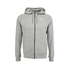 Nike SB Full Zip Hoodie - Dark Grey/Heather