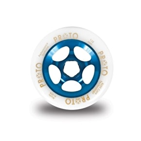 PROTO 110mm Gripper Wheel - White on Blue