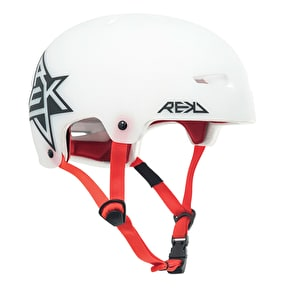 REKD Elite Semi-Transparent Helmet - White