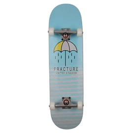 Fracture Brolly Custom Skateboard - Blue 8.25