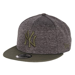 New Era Heather Jersey Cap - Yankees - New Olive/Graphite