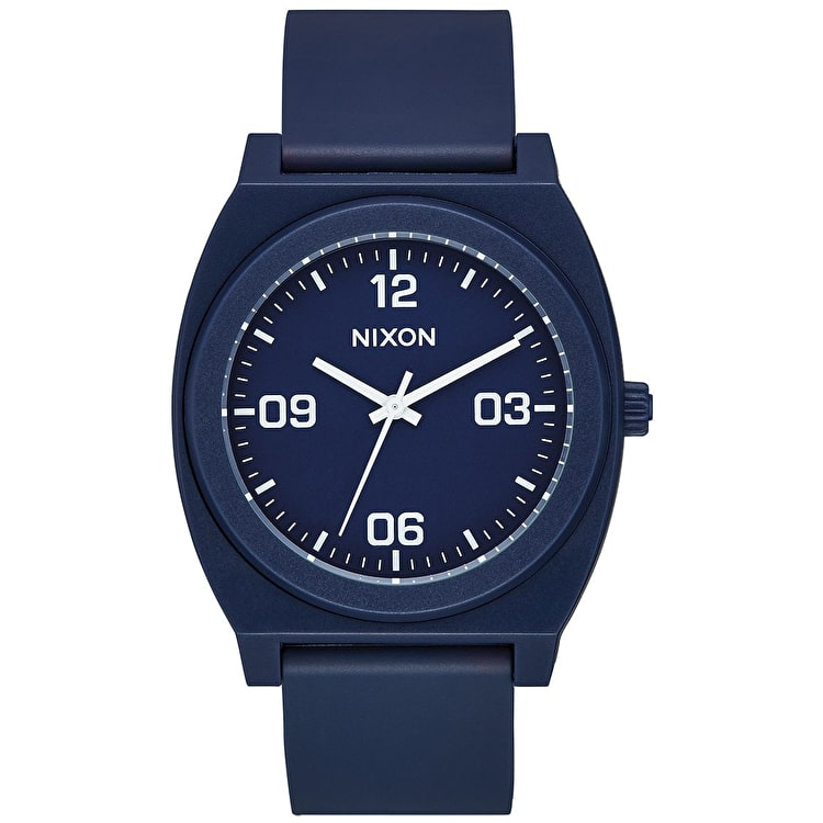 Nixon Time Teller P Corp Watch - Matte Navy/White