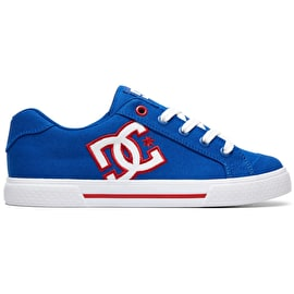 DC Chelsea TX Skate Shoes - Royal/White