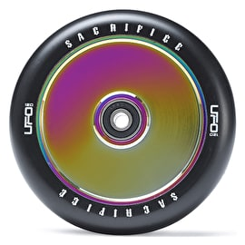 Sacrifice UFO 120mm Scooter Wheel w/Bearings - Black/Neochrome