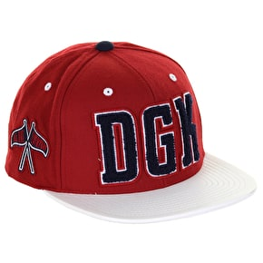 DGK Graduate Cap - Red/White
