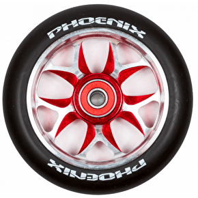 Phoenix F8 Alloy Core 110mm Scooter Wheel x 1 - Black/Red