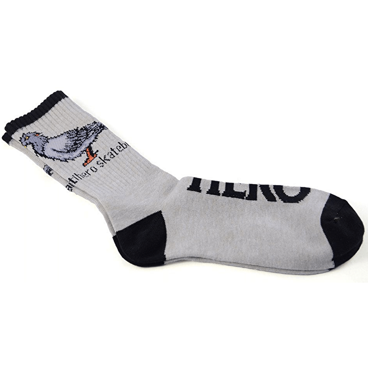 Anti Hero Pigeon Socks - Oatmeal Heather/Black
