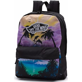 Vans Realm Backpack - (Dolphin Beach) Black