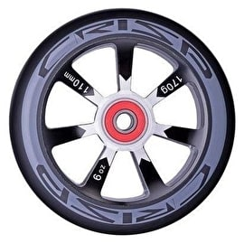 Crisp Hollowtech 110mm Scooter Wheel - Silver/Black