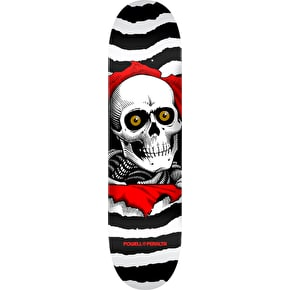 Powell Peralta One Off Ripper Skateboard Deck - White 8
