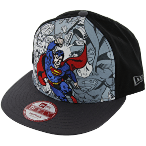 New Era Break Out Superman Snapback - Grey / Black